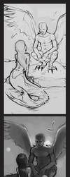 mermaid and angel progress pic by Detkef
