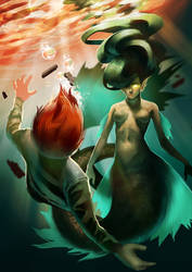 sea demon (commission)