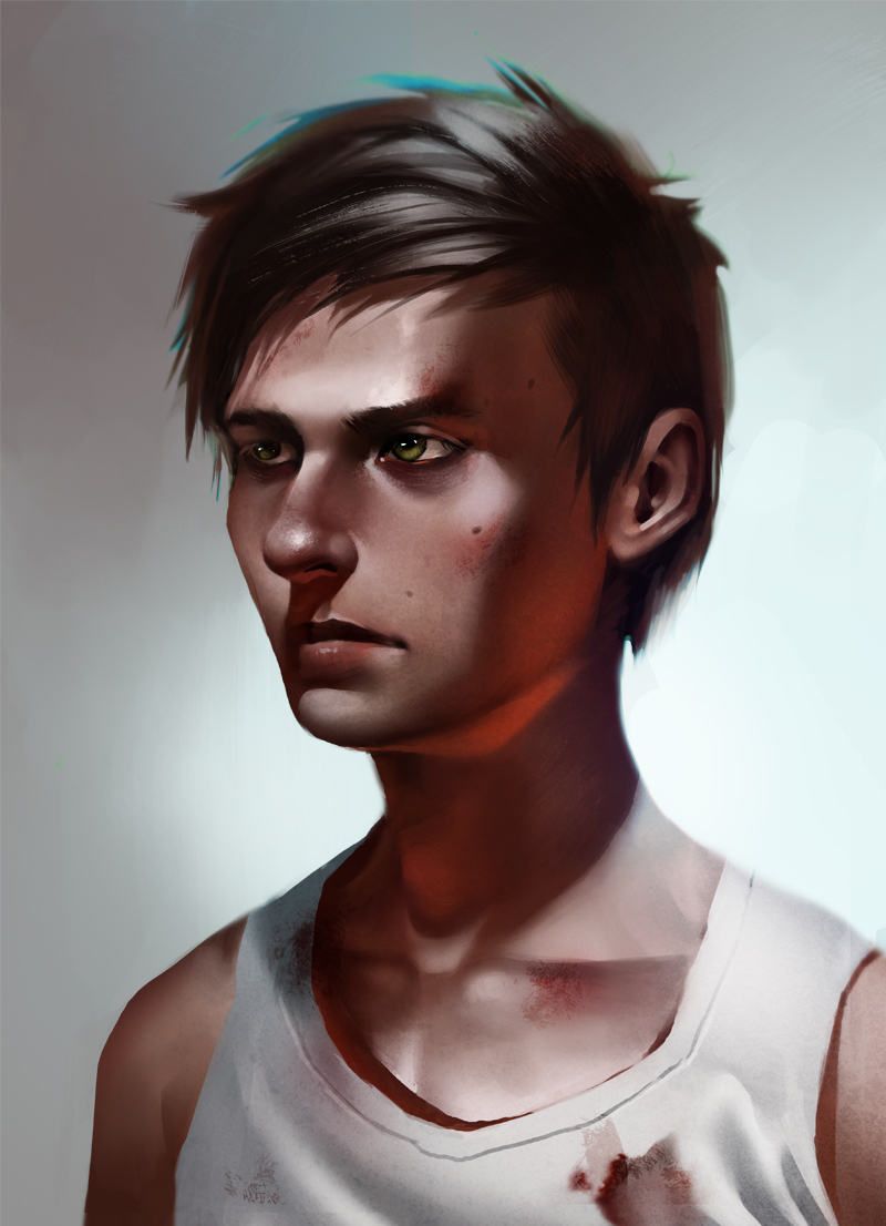 Portrait of a zombie hunter by Detkef