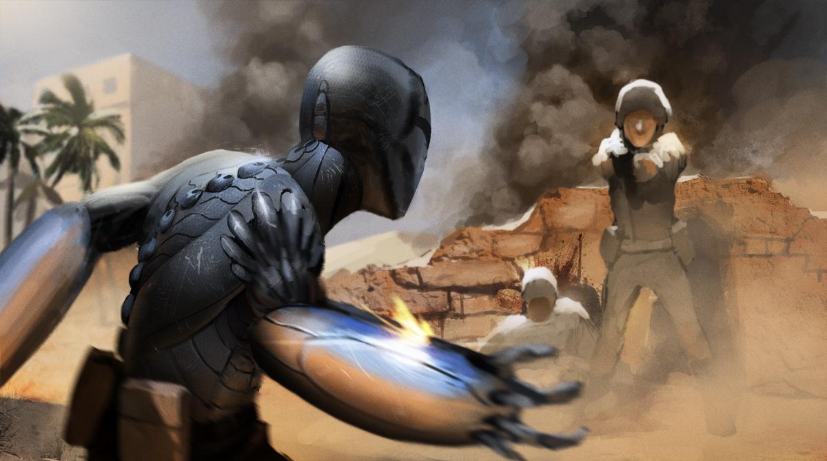 desert fighter by Detkef