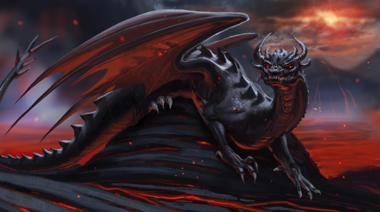 Lava Dragon By Detkef On DeviantArt