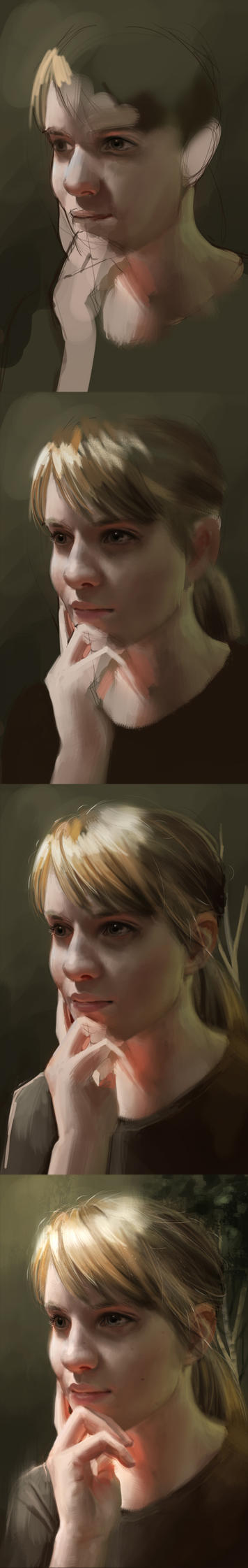 self portrait process by Detkef