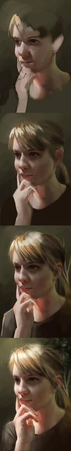 self portrait process