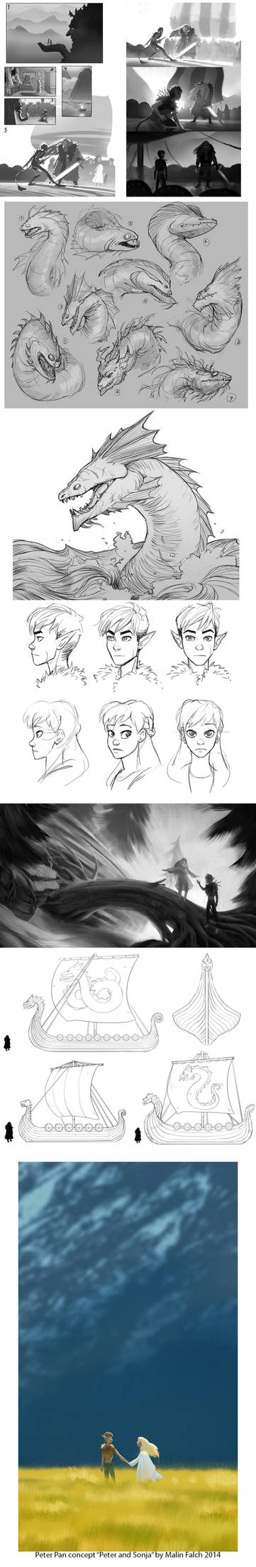 Peter Pan concept sketches