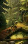 Lost trolls on a bridge