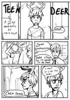 24 hour comic Teen deer Pg1 by Detkef