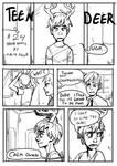 24 hour comic Teen deer Pg1