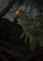 dark forest sketch by Detkef
