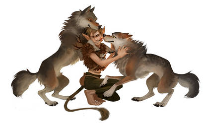 Peter and his wolves by Detkef