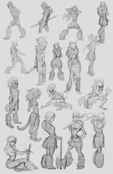 savage girl thumbnails by Detkef