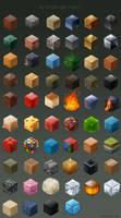 58 material cubes