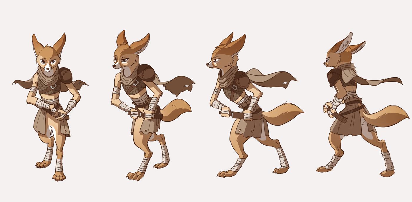 Desert fox turn around