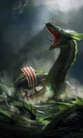 sea serpent by Detkef