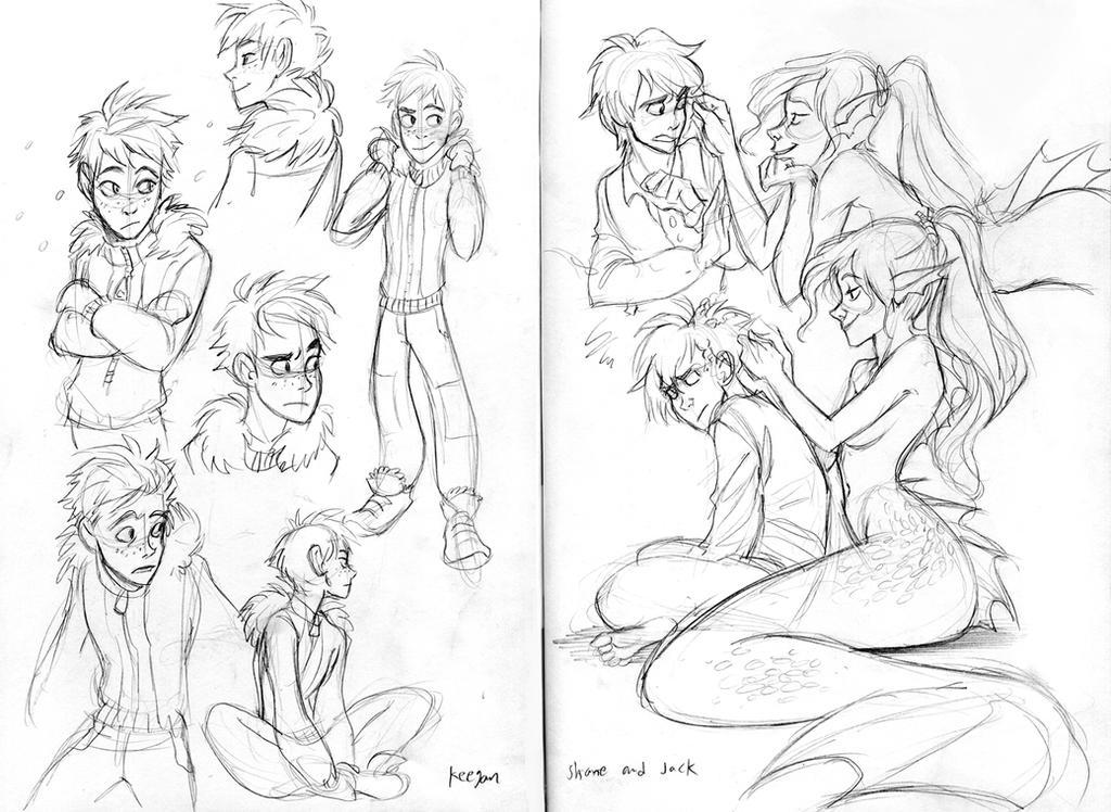Moleskine sketch commission by Detkef