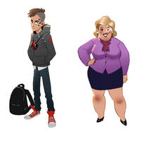 Character design, protester and politician by Detkef