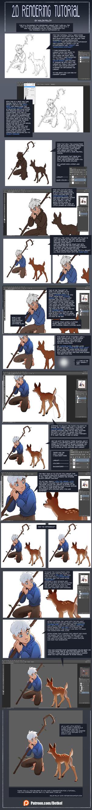 2d Coloring tutorial by Detkef