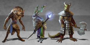 Fantasy animals lineup