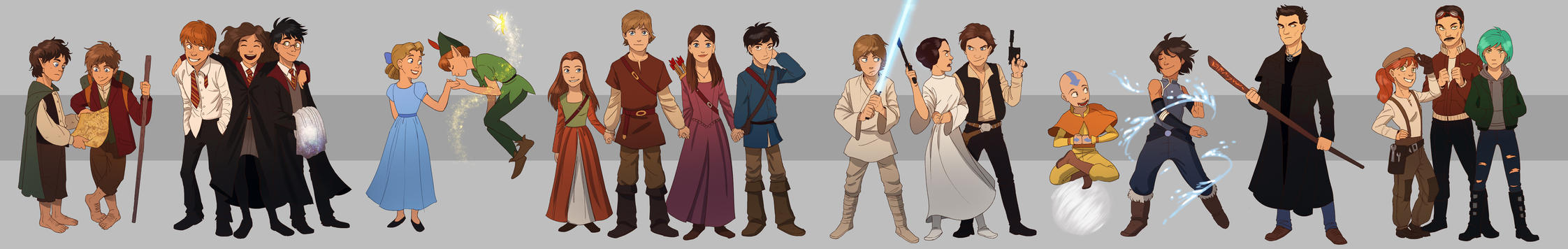 Commission: The Adventurers by Detkef