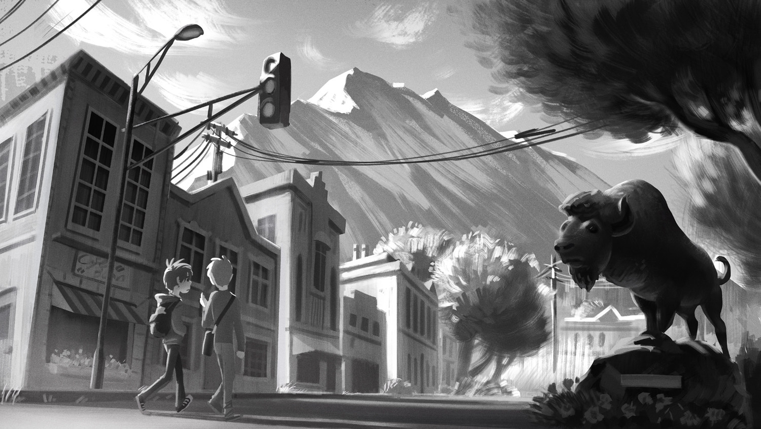 Small town by Detkef