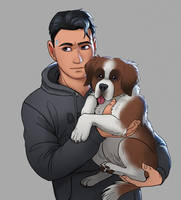 Connor and puppy+ video process
