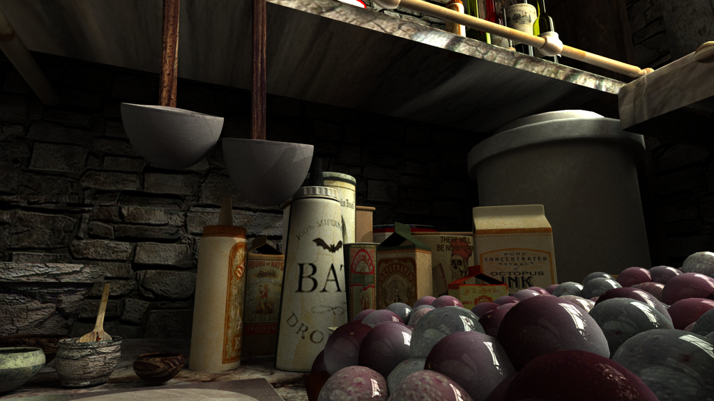 Ratatouille Kitchen Texturing Project Part 2 by ShadeDemonwolf