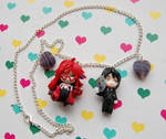 Handmade Black Butler necklace with clay charms by SimonaZ