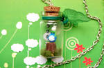 Totoro handmade necklace with bottled miniature