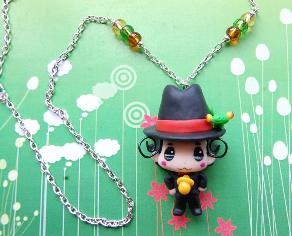 Tutor Hitman Reborn! necklace with clay charm by SimonaZ
