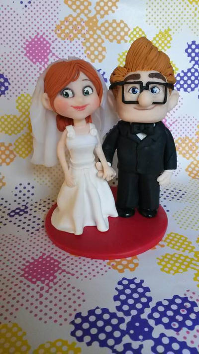 disney up wedding cake topper pixar up wedding cake topper in polymer c by simonaz on 13576