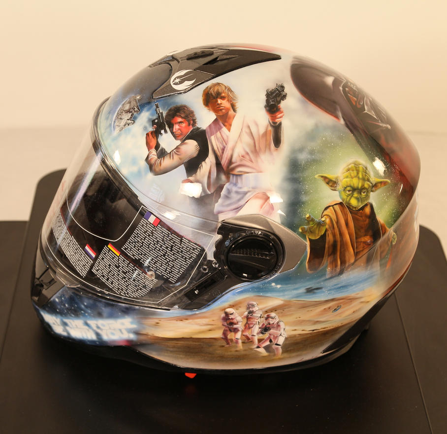 Airbrushed Star Wars helmet by SimonaZ