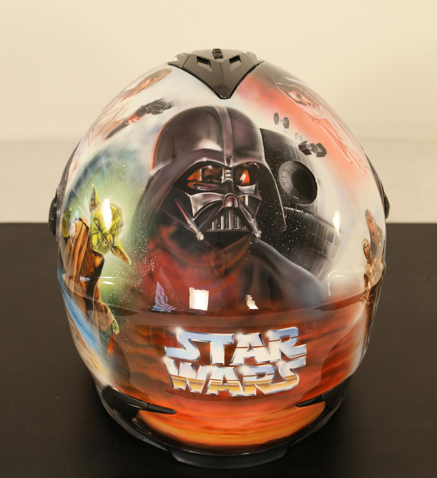 More Star Wars airbrushed helmet by SimonaZ