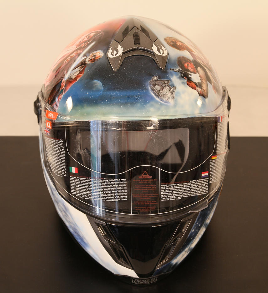 More airbrushed Star Wars helmet by SimonaZ