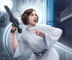 Star Wars: TCG - Leia Organa by AnthonyFoti