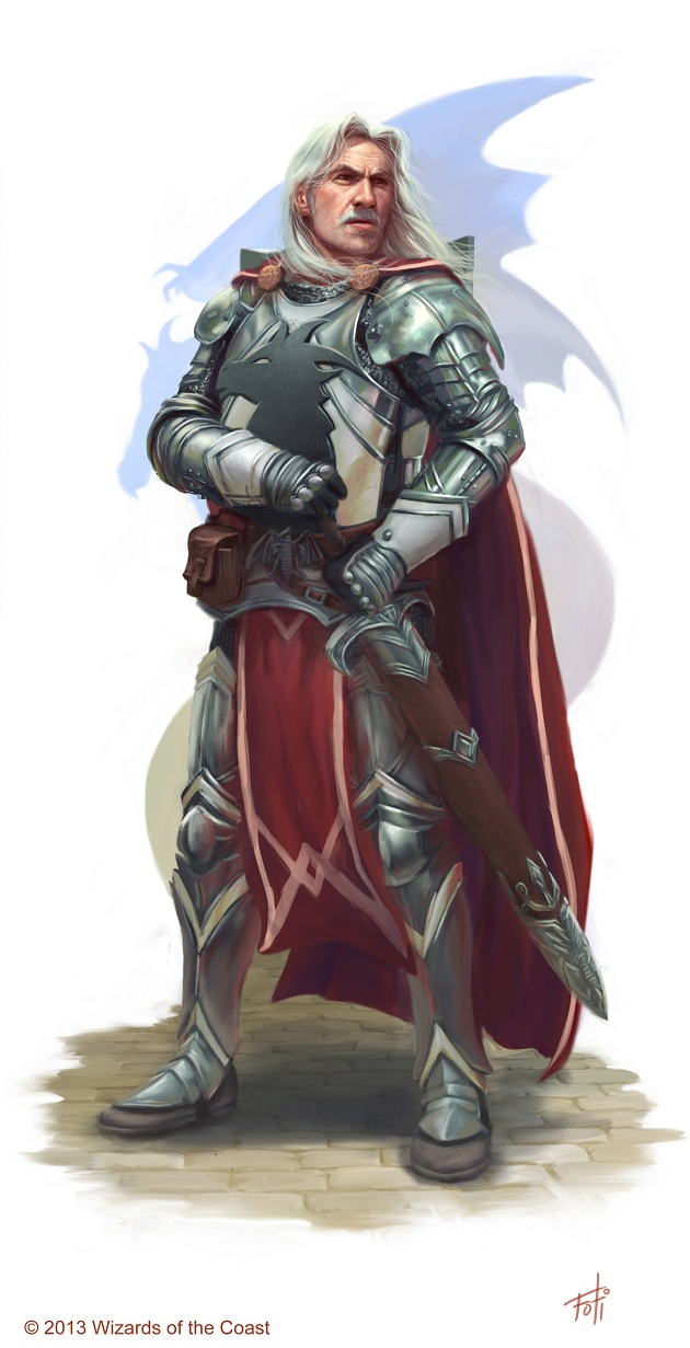 DnD: Captain Havarr, Knight of Bahamut by AnthonyFoti