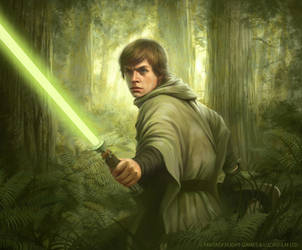 Star Wars: TCG - Endor Luke by AnthonyFoti
