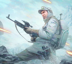Star Wars: Imperial Assault - Hoth Trooper by AnthonyFoti