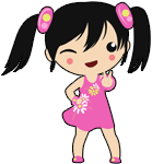 xiao: pink dress emote by kicky