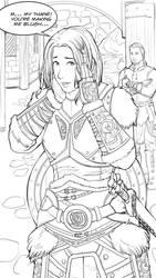 Skyrim: Lydia blushing by kicky