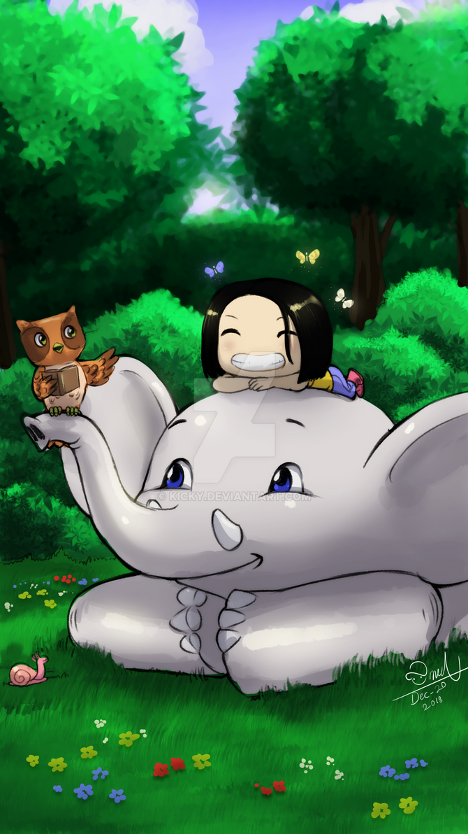 Elephants like to listen to stories by kicky
