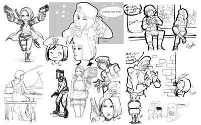 Jill Valentine sketch dump
