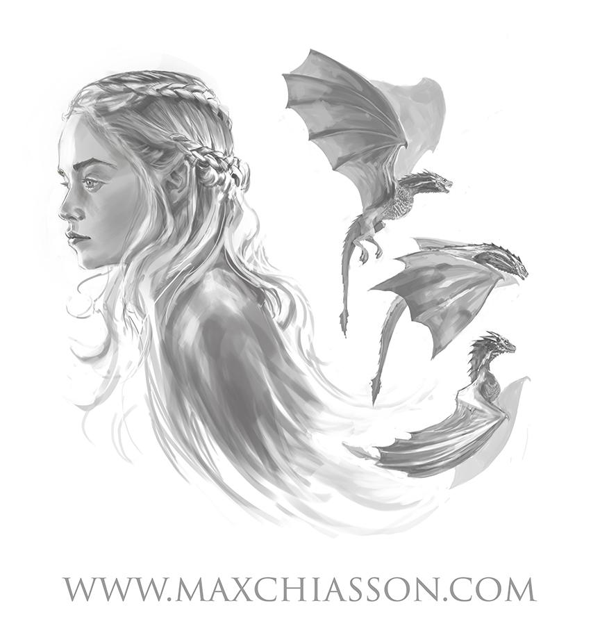 Daenerys Targaryen by MaximeChiasson