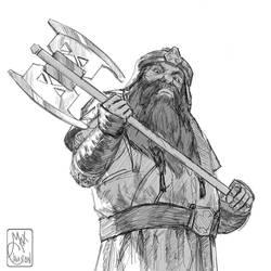 Gimli Son of Gloin by MaximeChiasson