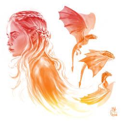 Game of thrones -Daenerys targaryen by MaximeChiasson