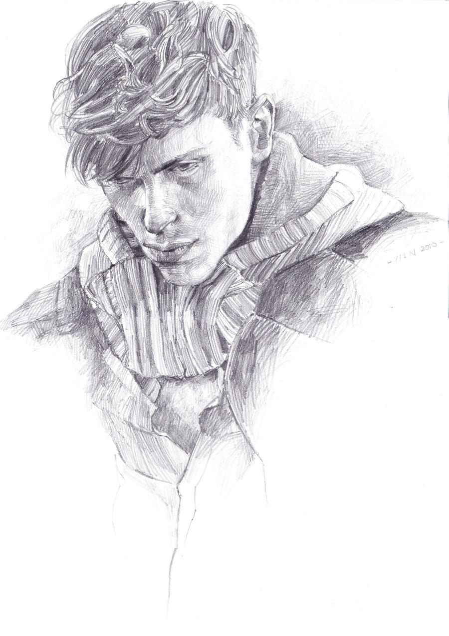 Man With Curly Hair By Yilin Tan On Deviantart