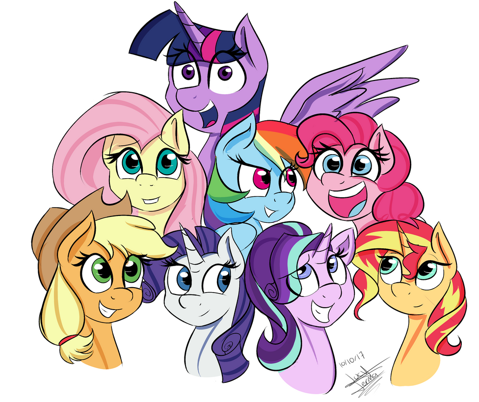 Cartoon Characters 8 Letters : Commission] mane 8 by scarlett letter on deviantart