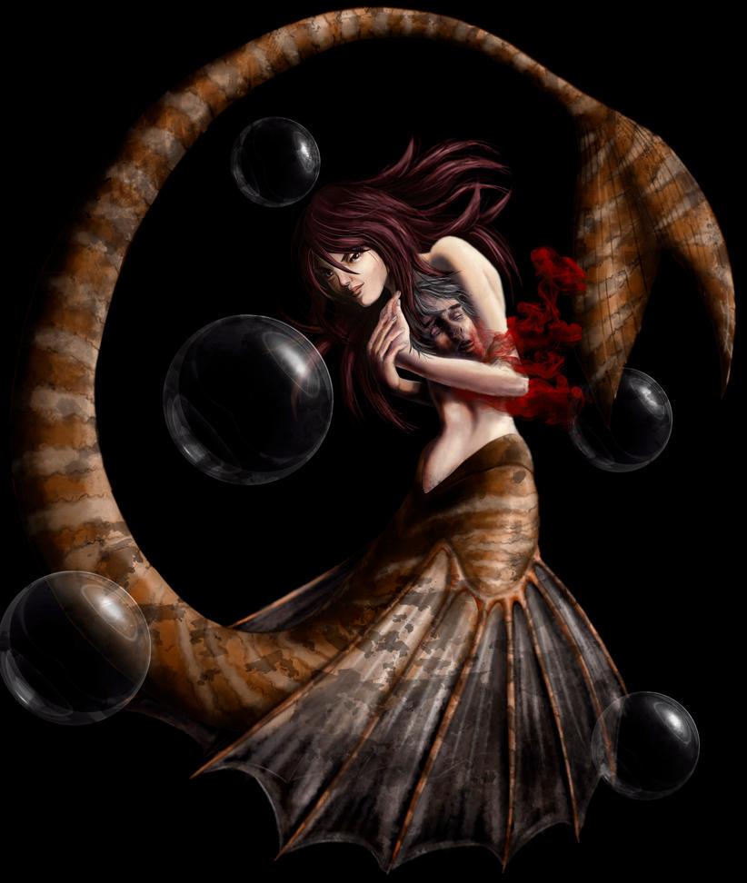 The mermaid's love by massamitsu