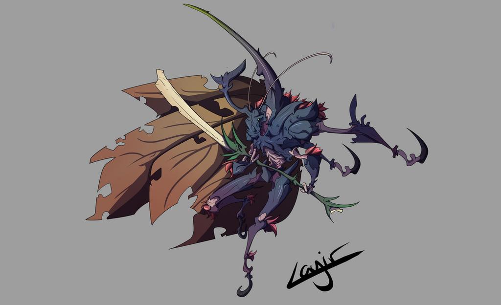 Great Sabre beetle by Layir
