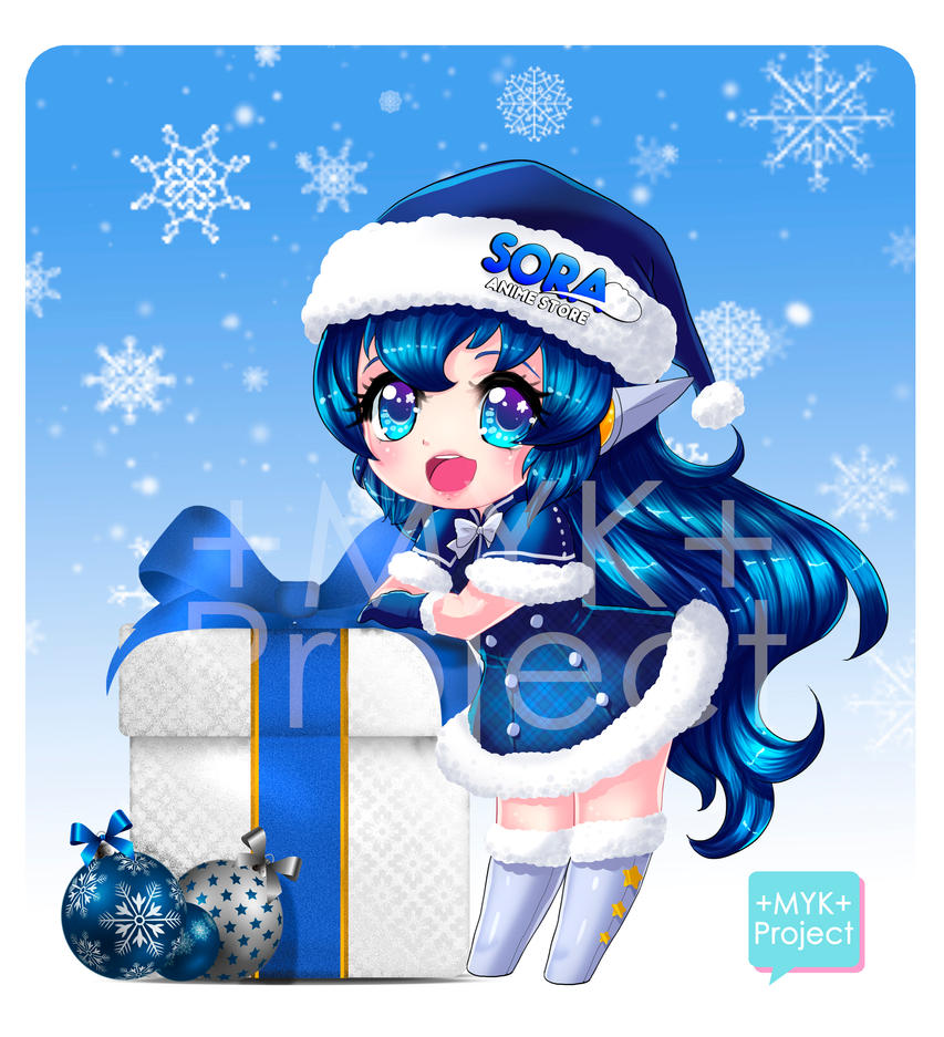 +Commission:  Merry Xmas Sora chan+ by MYKProject