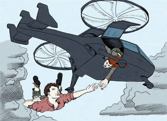 Gyrocopter Dive - Colored by Gabe-Kai