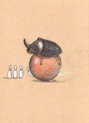 Dung Beetle Bowling